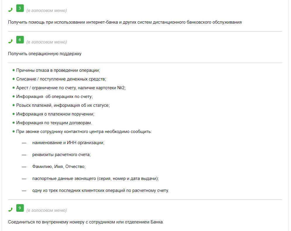 Техническая поддержка Сбербанк Бизнес Онлайн